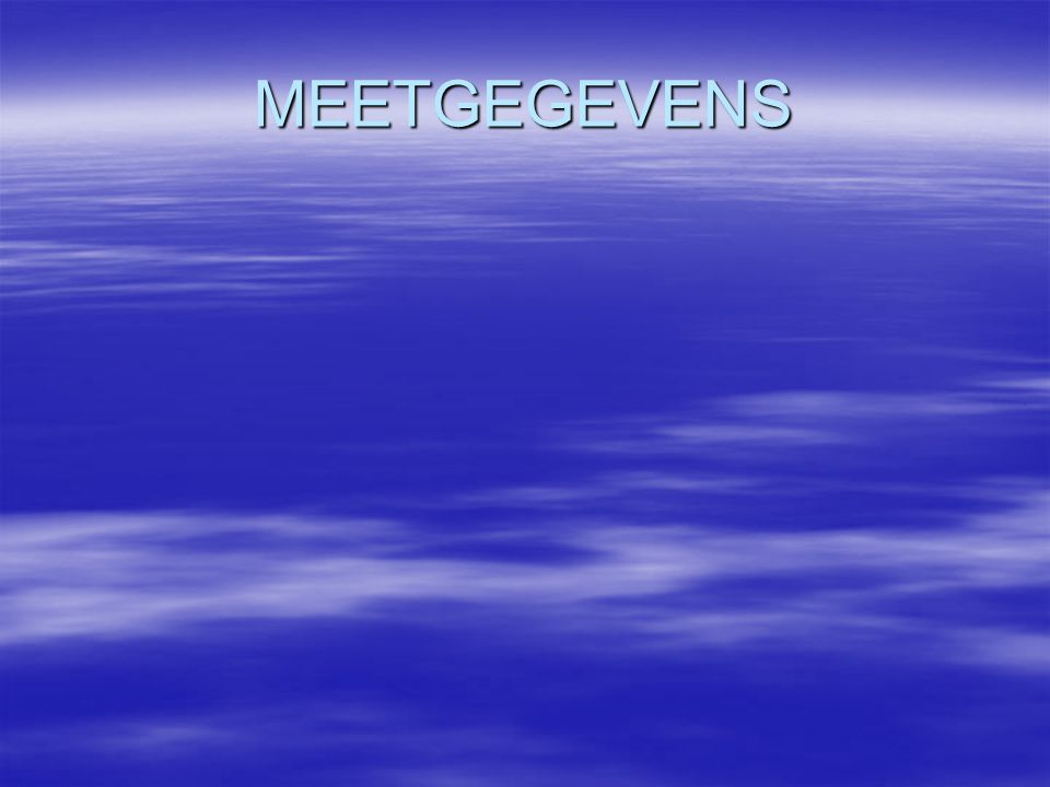 MEETGEGEVENS