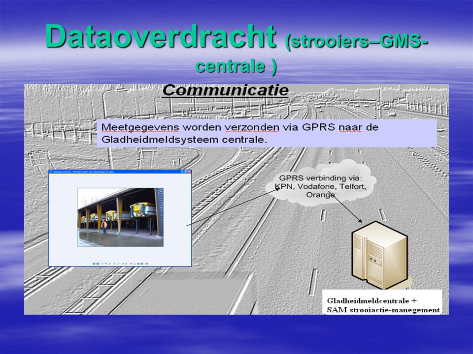Dataoverdracht (strooiers–GMS-centrale )