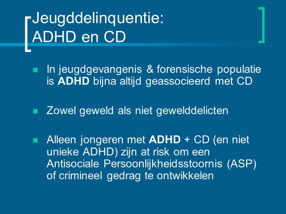 Jeugddelinquentie: ADHD en CD