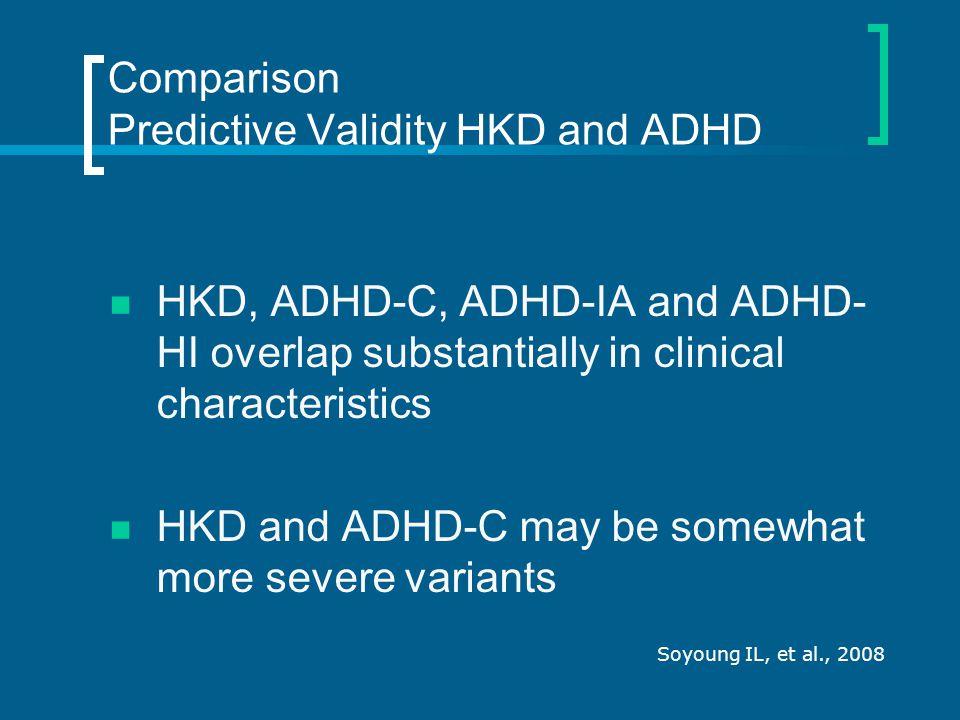 Comparison Predictive Validity HKD and ADHD