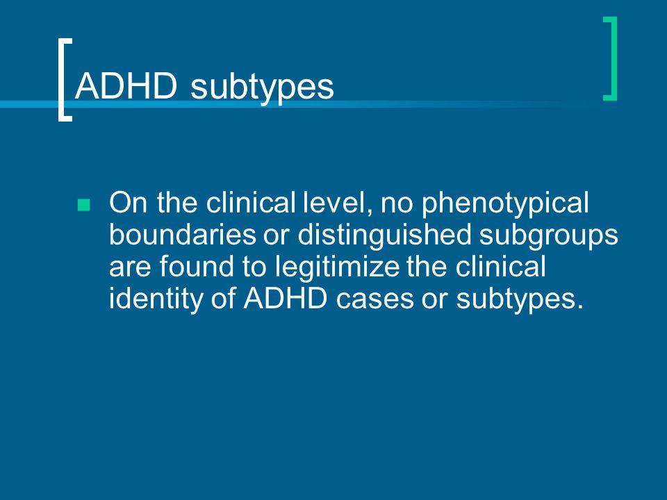 ADHD subtypes