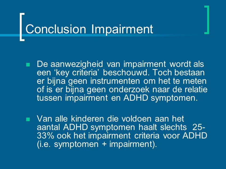 Conclusion Impairment