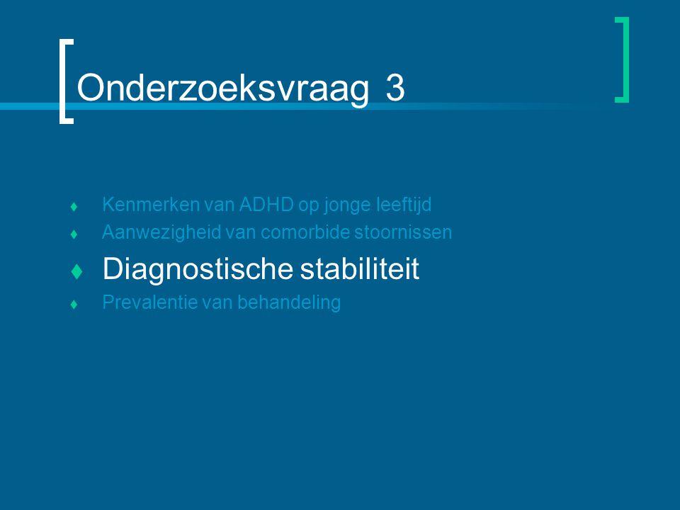Onderzoeksvraag 3 Diagnostische stabiliteit