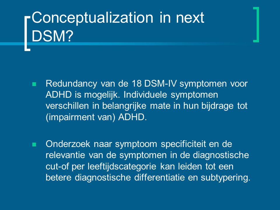 Conceptualization in next DSM