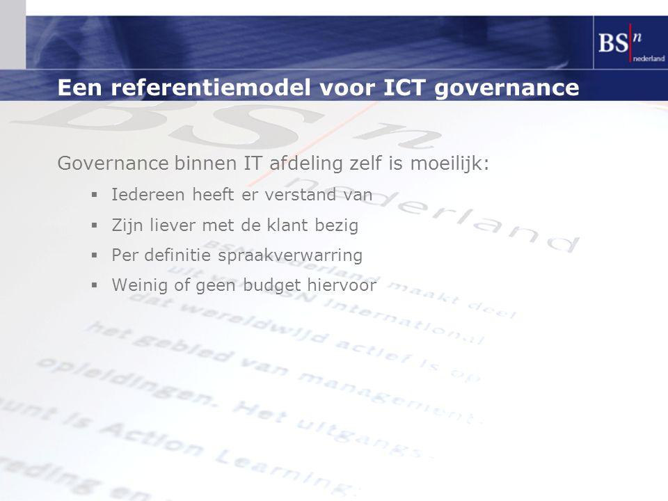 Een referentiemodel voor ICT governance