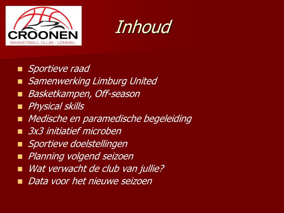 Inhoud Sportieve raad Samenwerking Limburg United