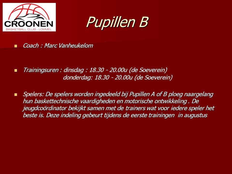Pupillen B Coach : Marc Vanheukelom