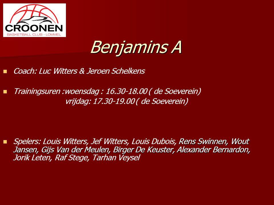 Benjamins A Coach: Luc Witters & Jeroen Schelkens