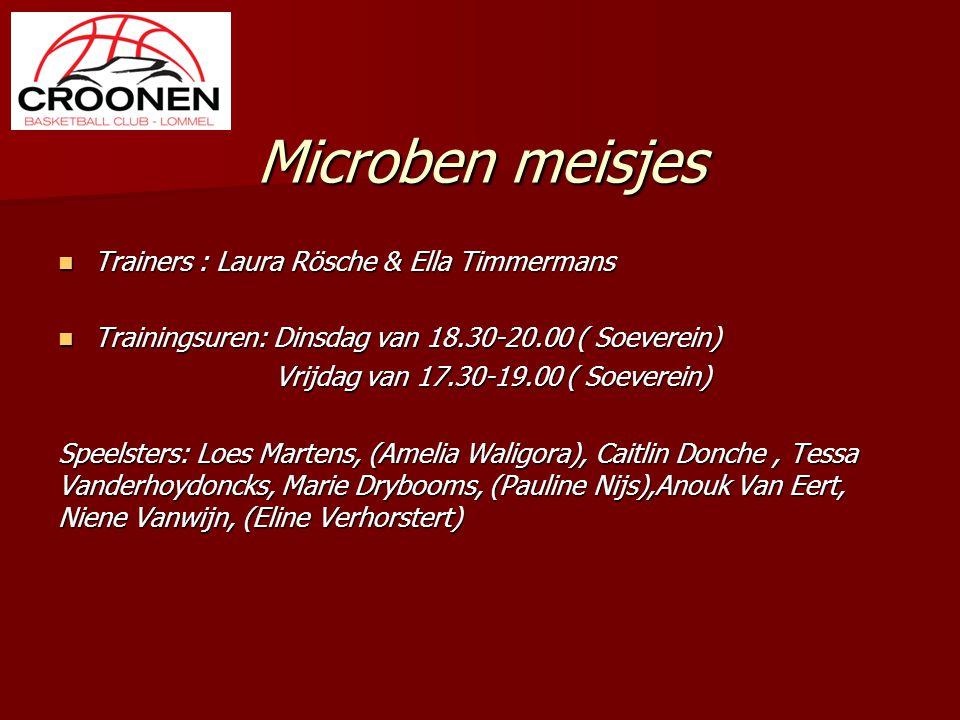 Microben meisjes Trainers : Laura Rösche & Ella Timmermans