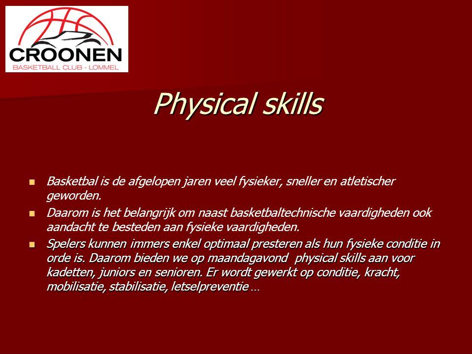 Physical skills Basketbal is de afgelopen jaren veel fysieker, sneller en atletischer geworden.