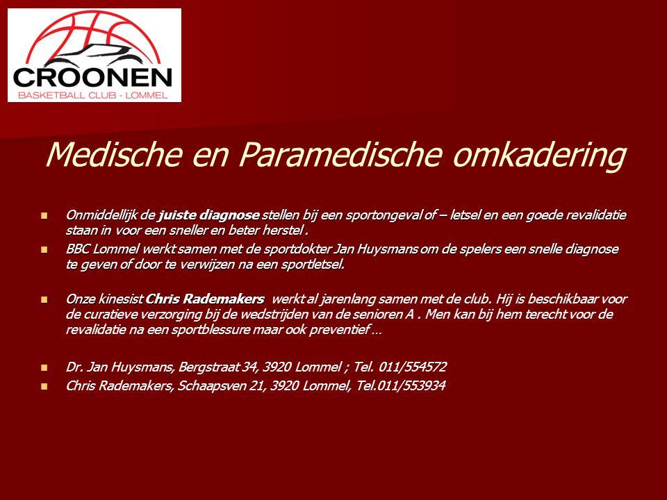Medische en Paramedische omkadering