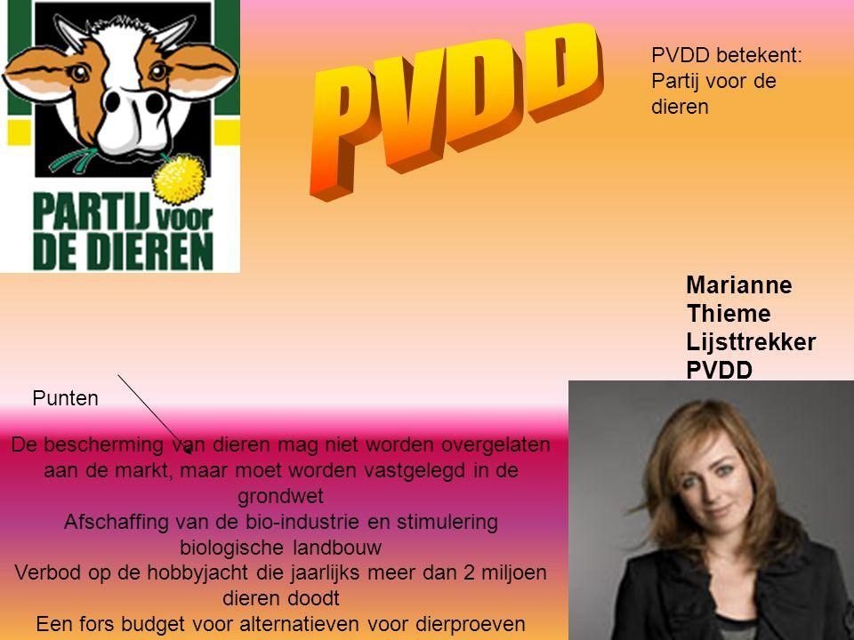 PVDD Marianne Thieme Lijsttrekker PVDD