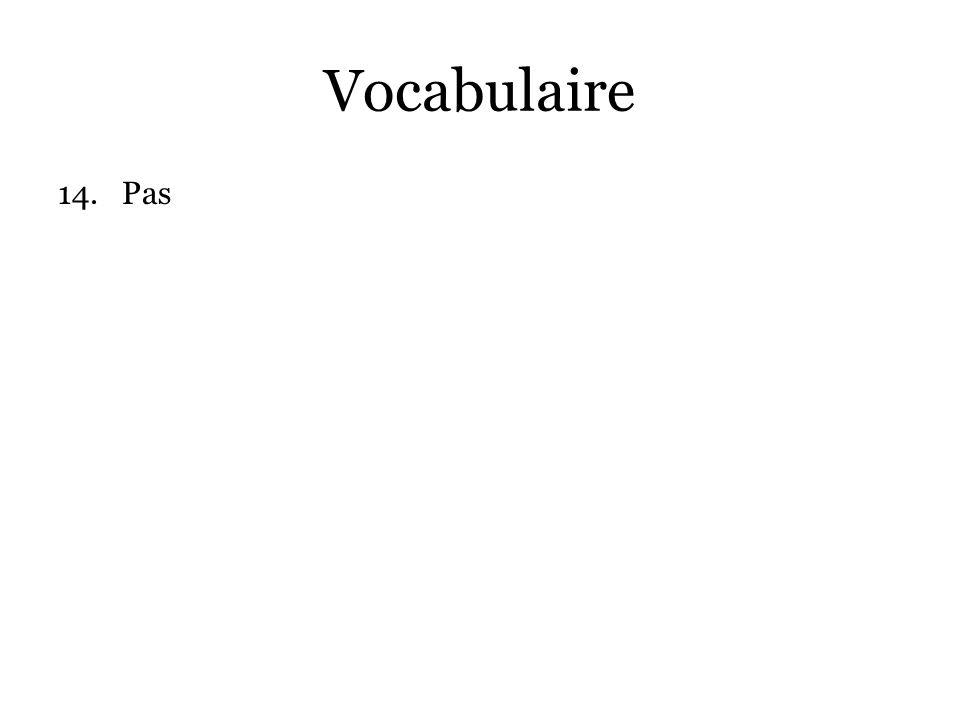 Vocabulaire Pas