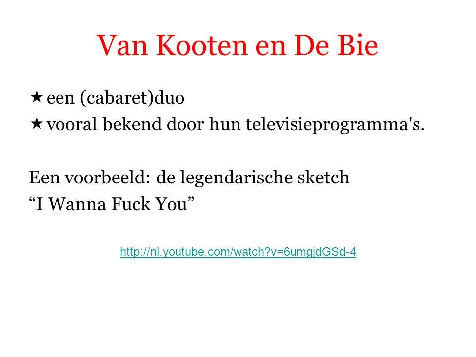 Van Kooten en De Bie een (cabaret)duo