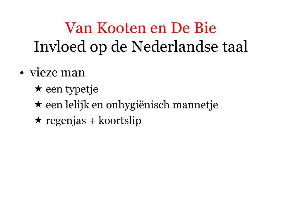 Van Kooten en De Bie Invloed op de Nederlandse taal
