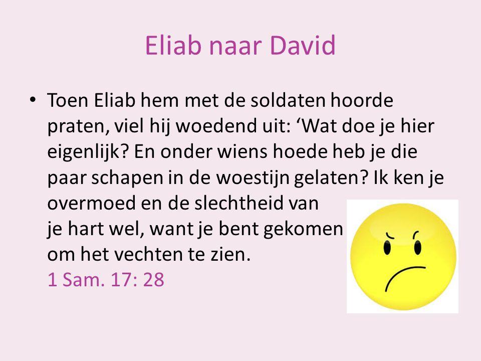 Eliab naar David