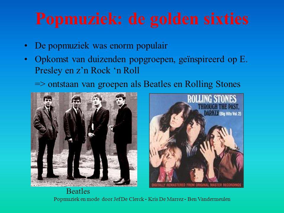 Popmuziek: de golden sixties