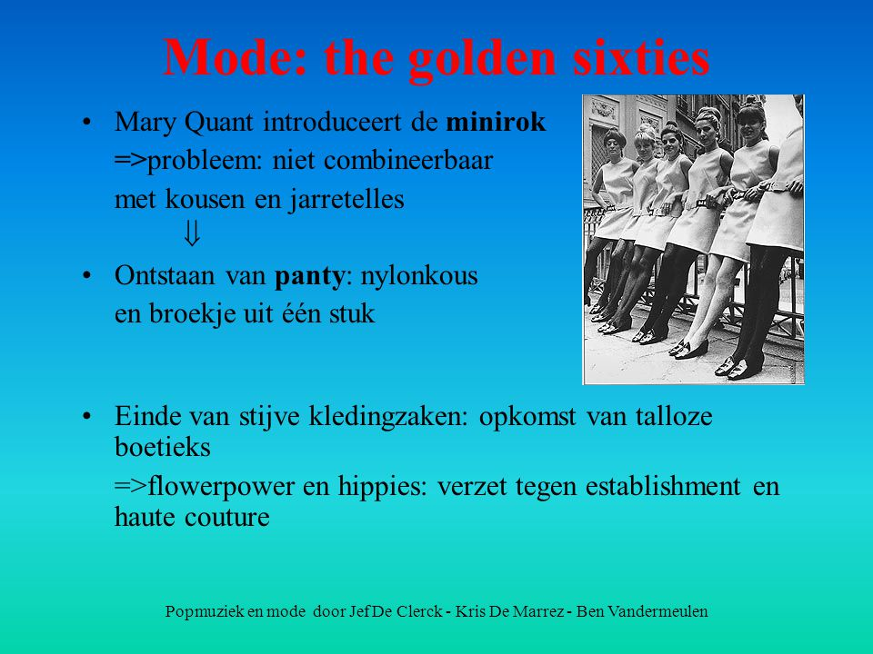 Mode: the golden sixties