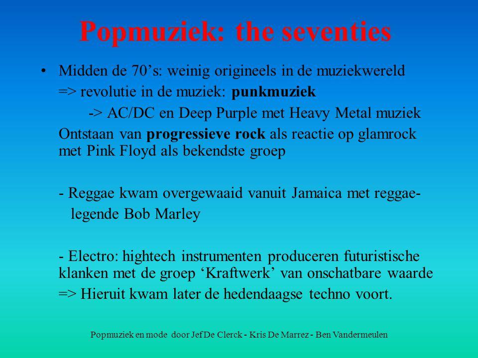 Popmuziek: the seventies