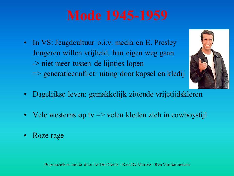 Mode 1945-1959 In VS: Jeugdcultuur o.i.v. media en E. Presley