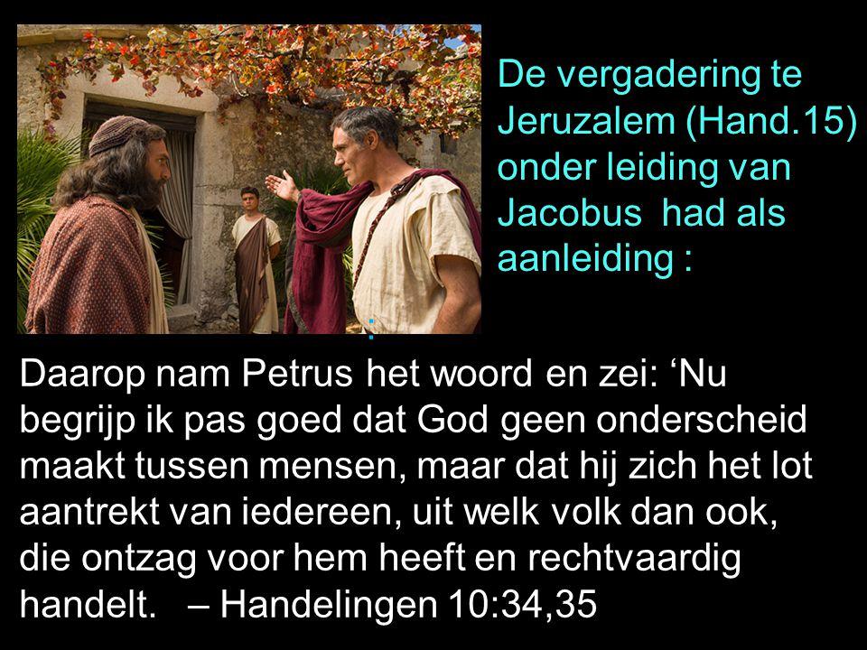 De vergadering te Jeruzalem (Hand