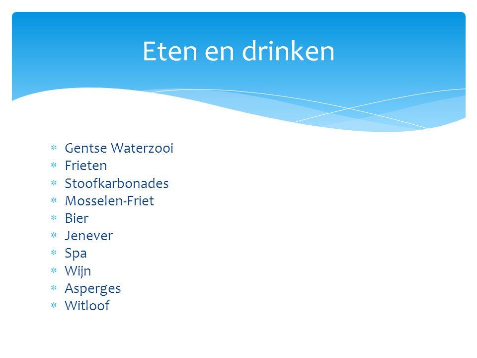 Eten en drinken Gentse Waterzooi Frieten Stoofkarbonades
