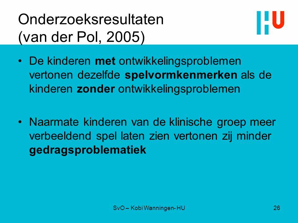 Onderzoeksresultaten (van der Pol, 2005)