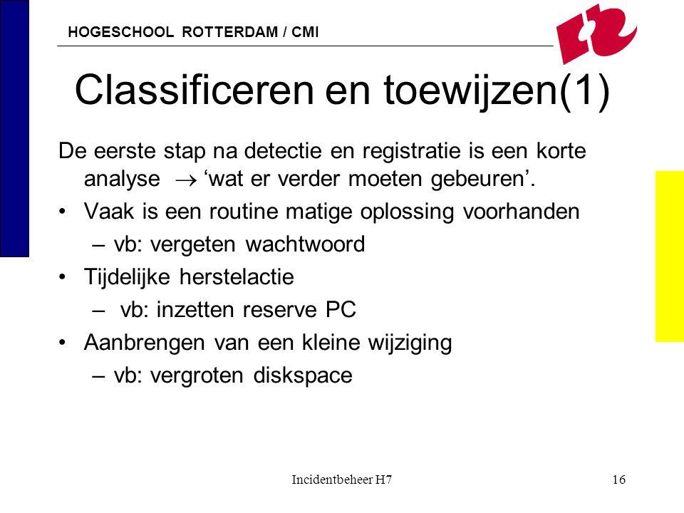 Classificeren en toewijzen(1)