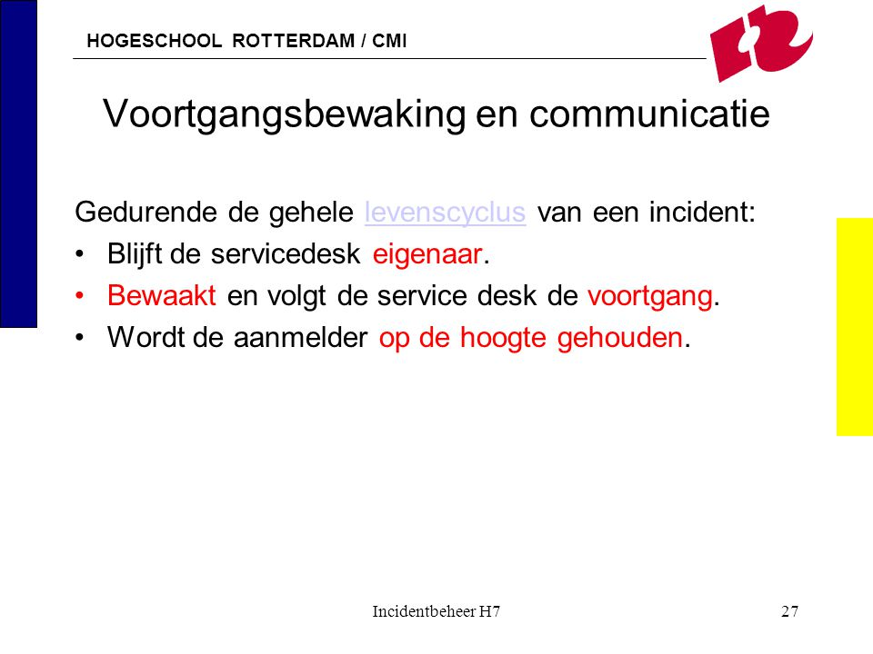 Voortgangsbewaking en communicatie
