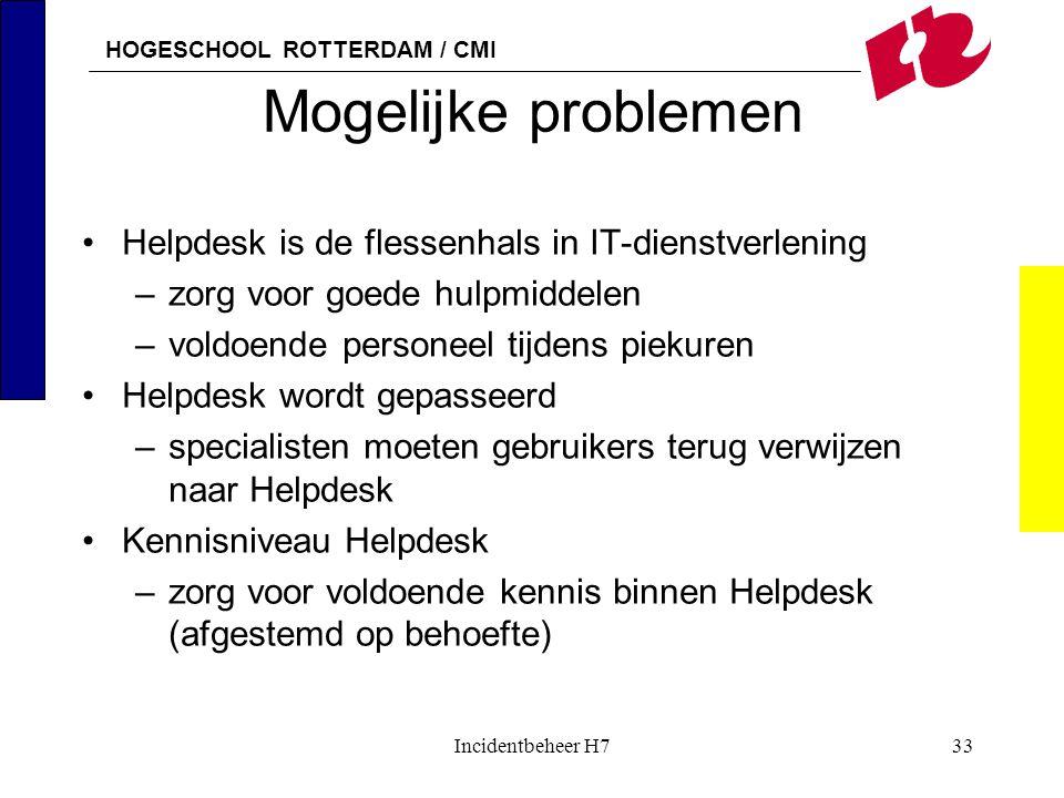 Mogelijke problemen Helpdesk is de flessenhals in IT-dienstverlening