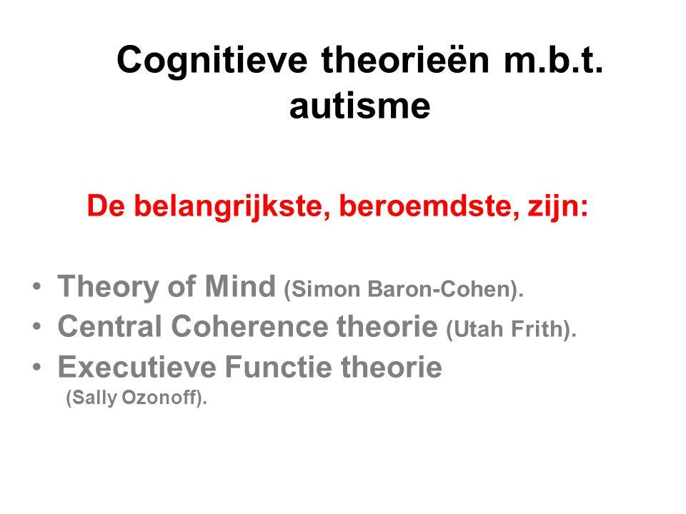 Cognitieve theorieën m.b.t. autisme