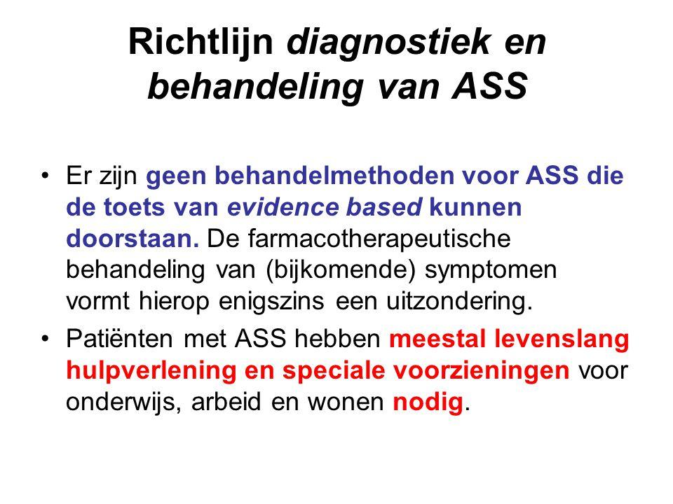Richtlijn diagnostiek en behandeling van ASS