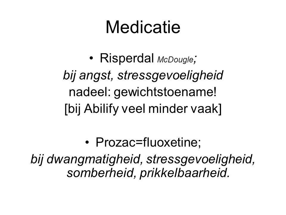 Medicatie Risperdal McDougle; bij angst, stressgevoeligheid