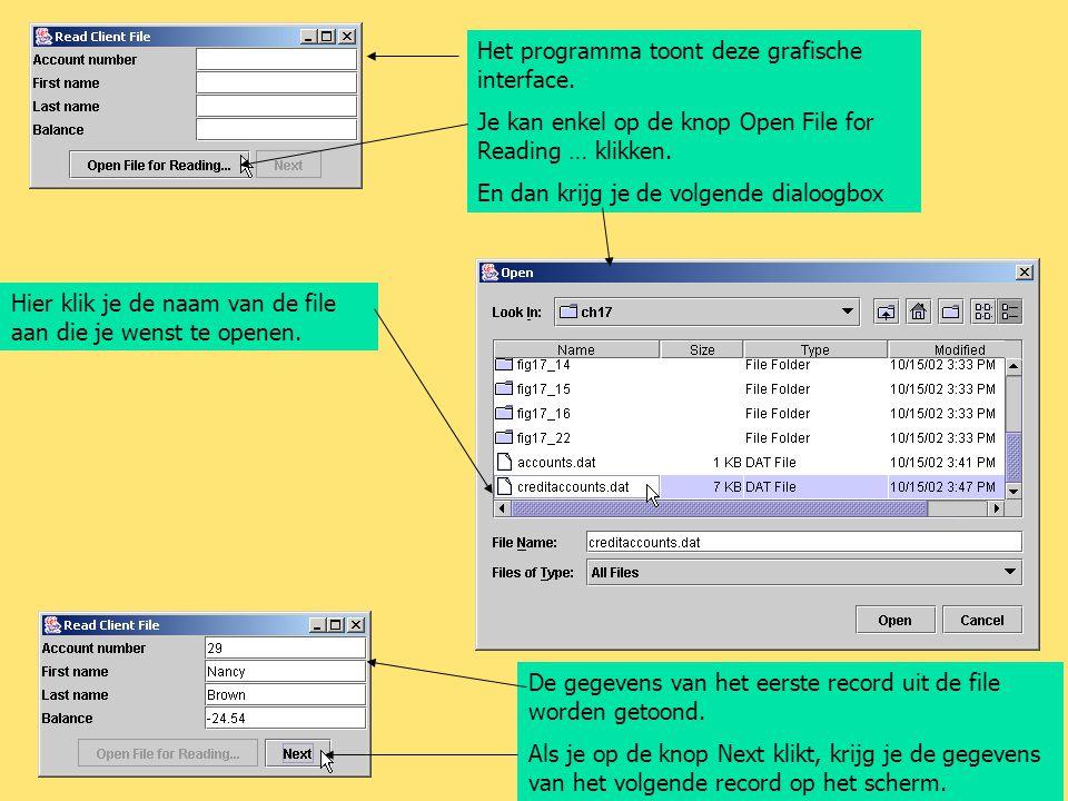 Het programma toont deze grafische interface.