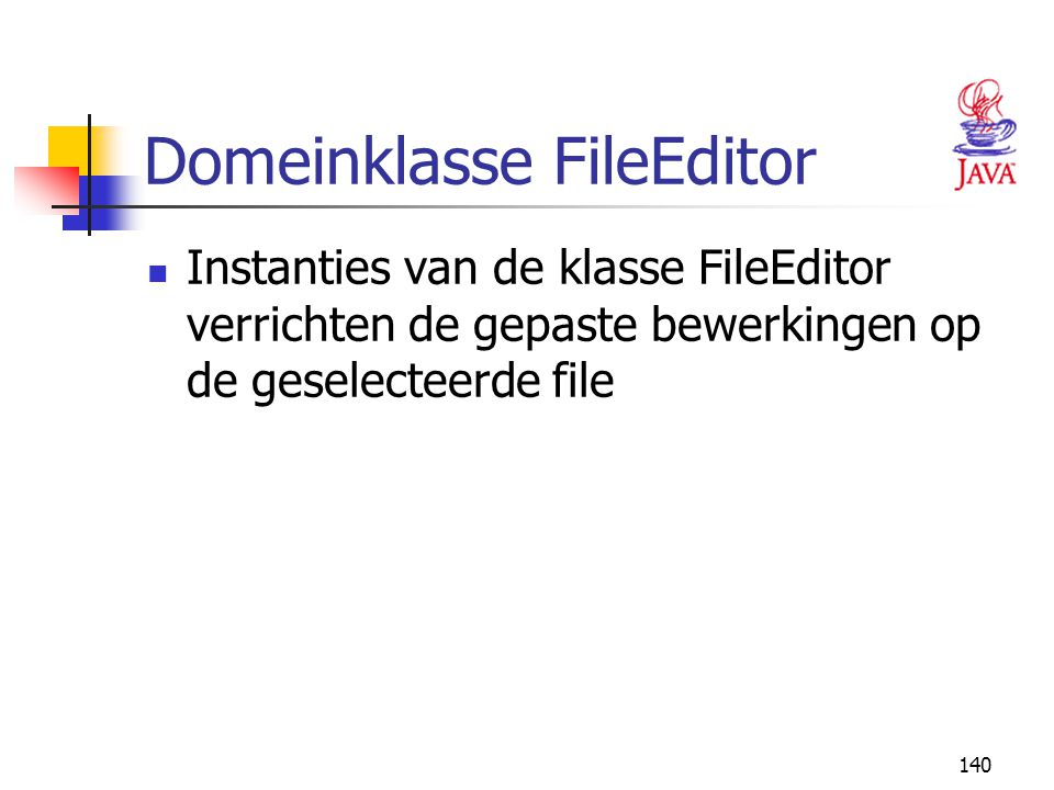 Domeinklasse FileEditor