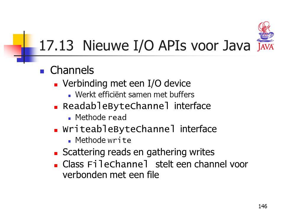 17.13 Nieuwe I/O APIs voor Java