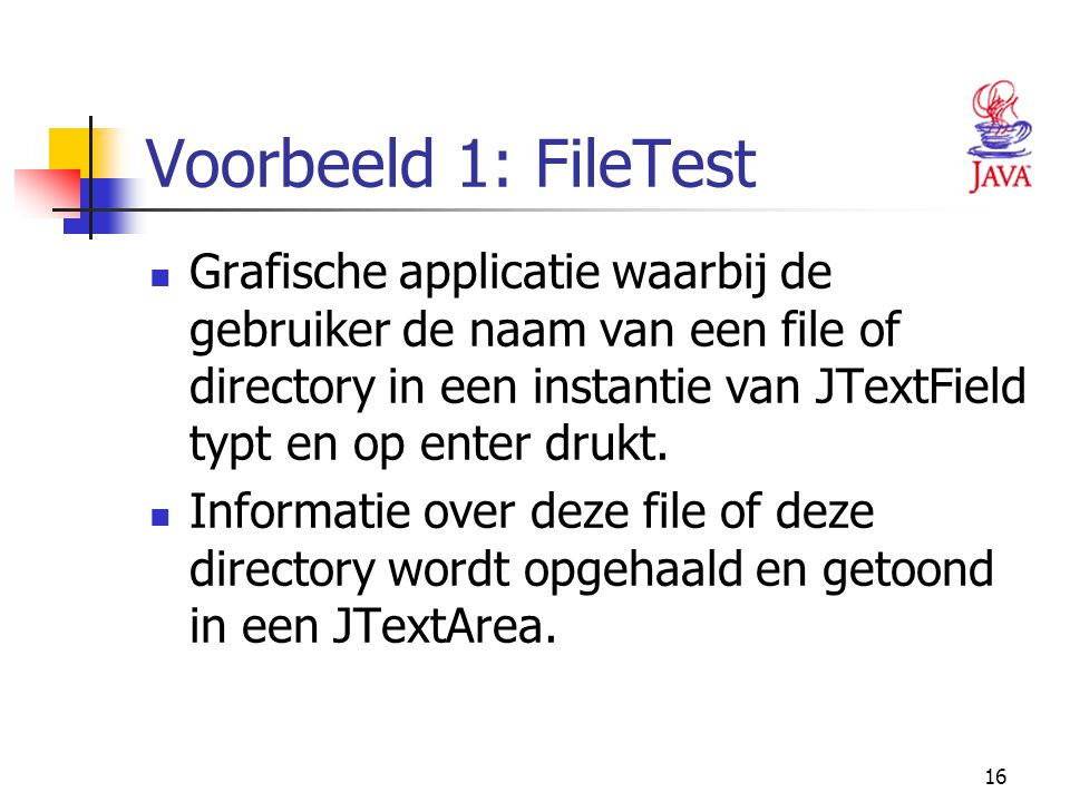 Voorbeeld 1: FileTest