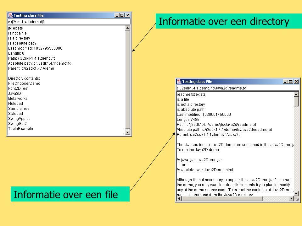 Informatie over een directory