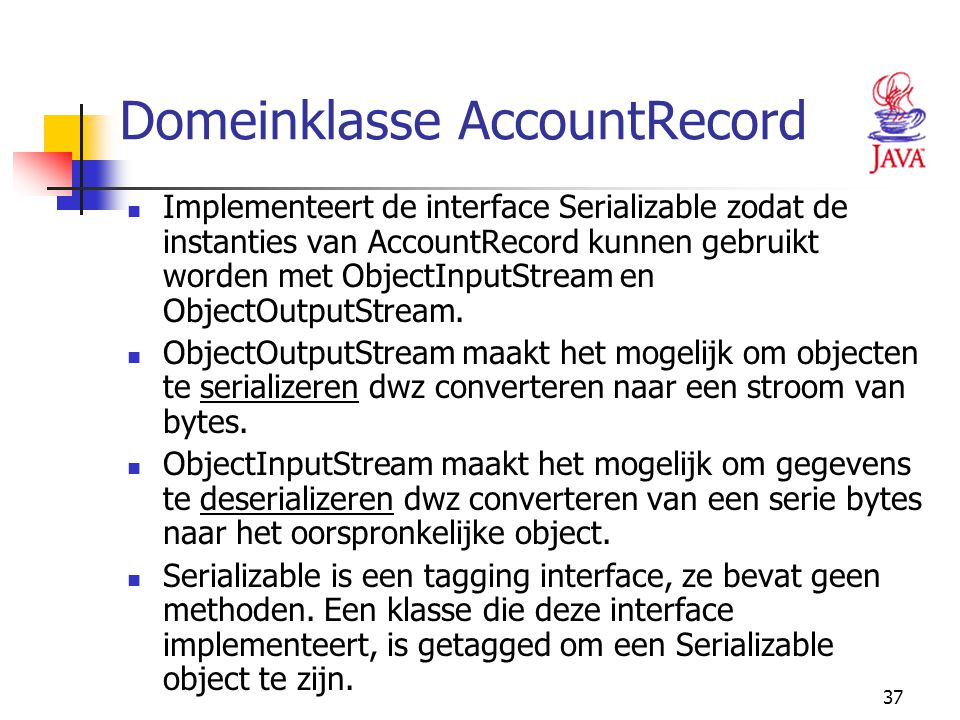 Domeinklasse AccountRecord