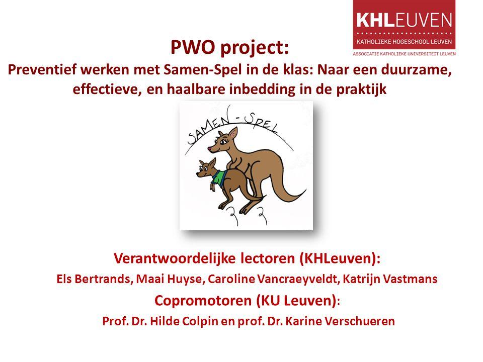 PWO project: Preventief werken met Samen-Spel in de klas: Naar een duurzame, effectieve, en haalbare inbedding in de praktijk