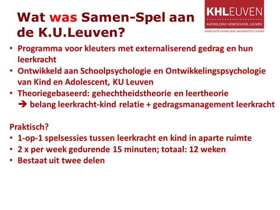 Wat was Samen-Spel aan de K.U.Leuven