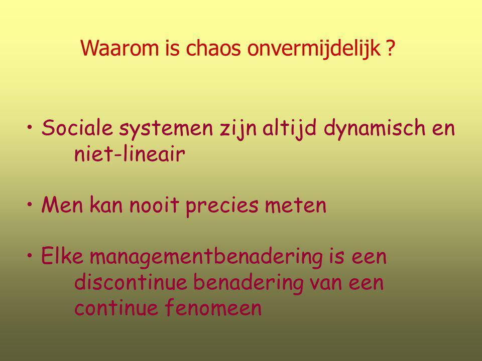Waarom is chaos onvermijdelijk