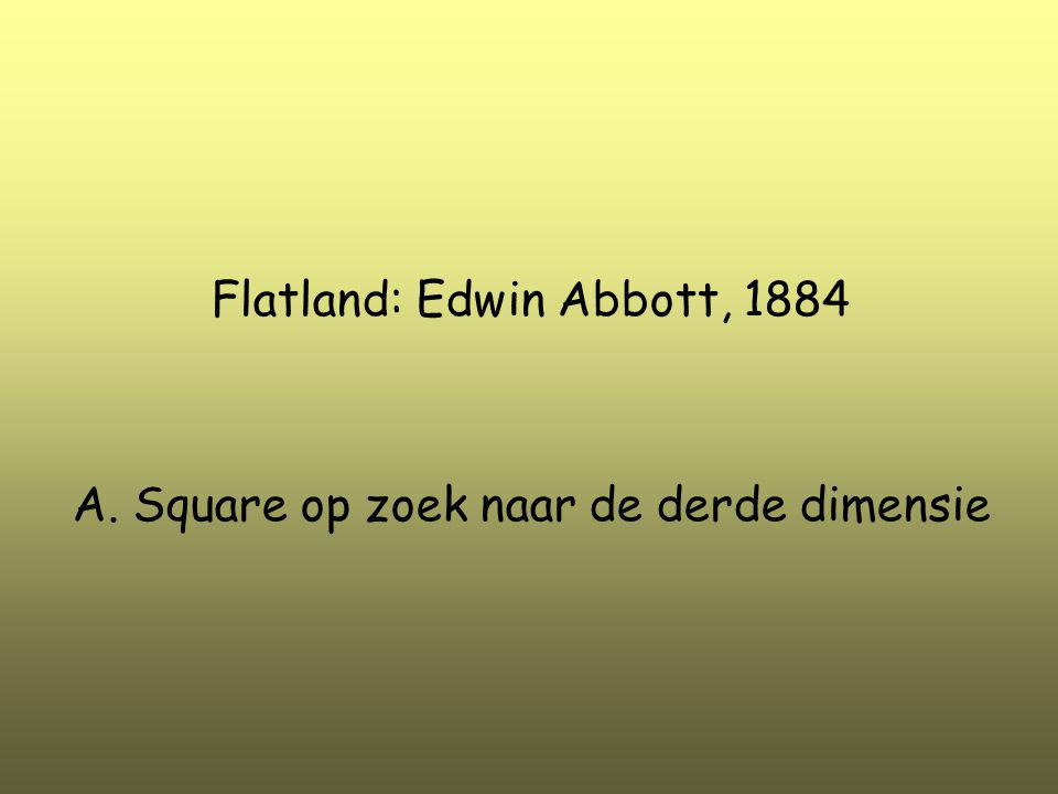 Flatland: Edwin Abbott, 1884