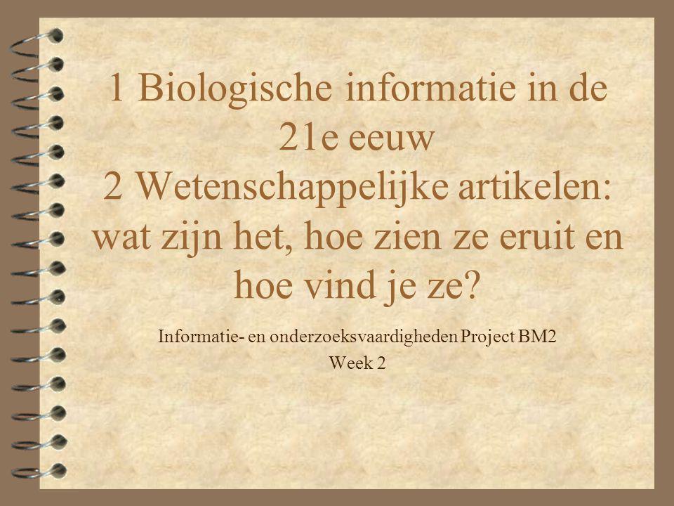 Informatie- en onderzoeksvaardigheden Project BM2 Week 2