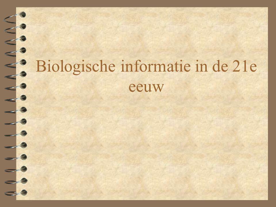 Biologische informatie in de 21e eeuw