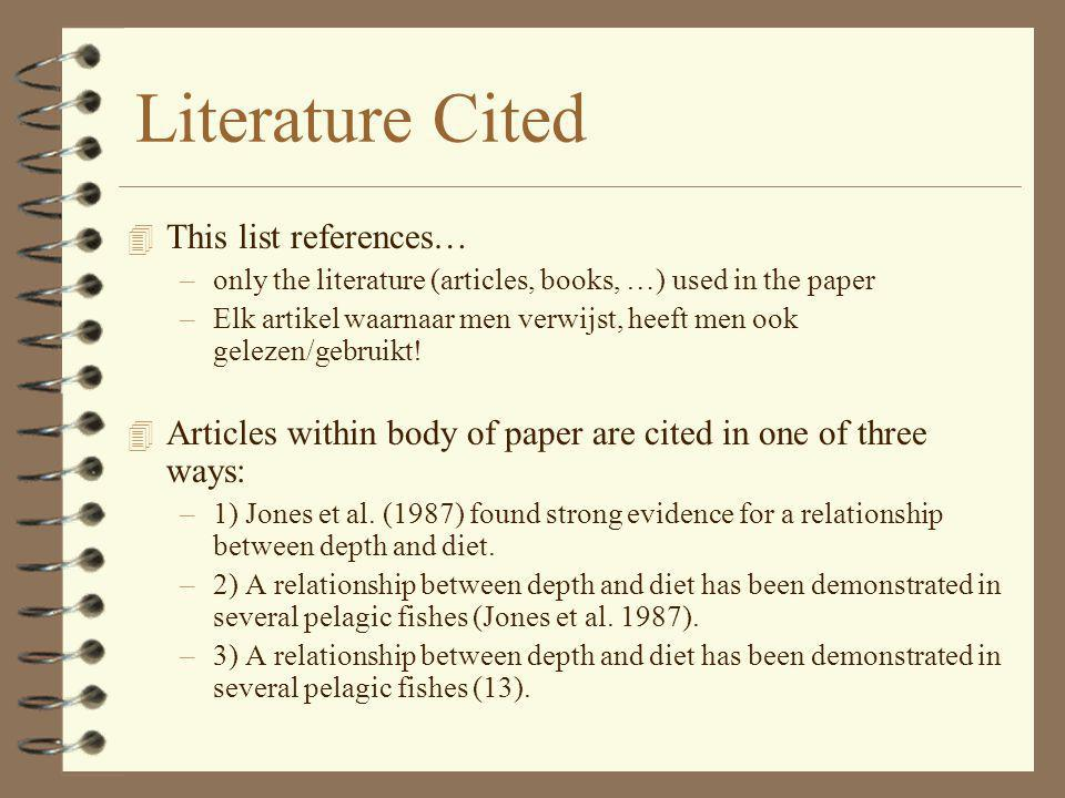 Literature Cited This list references…
