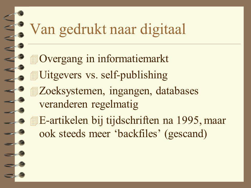 Van gedrukt naar digitaal