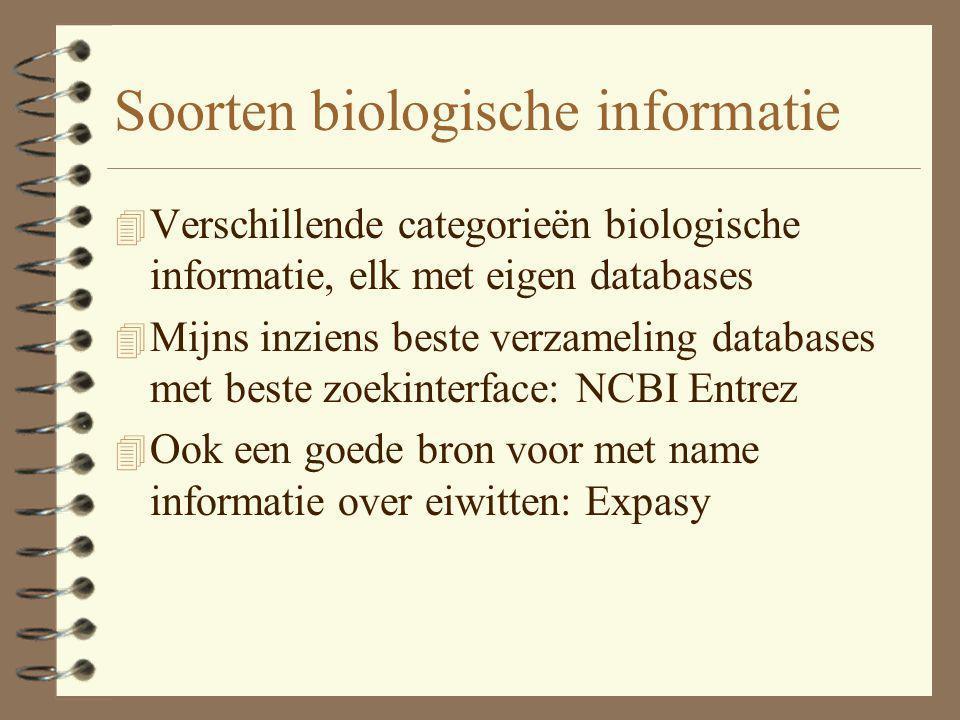 Soorten biologische informatie