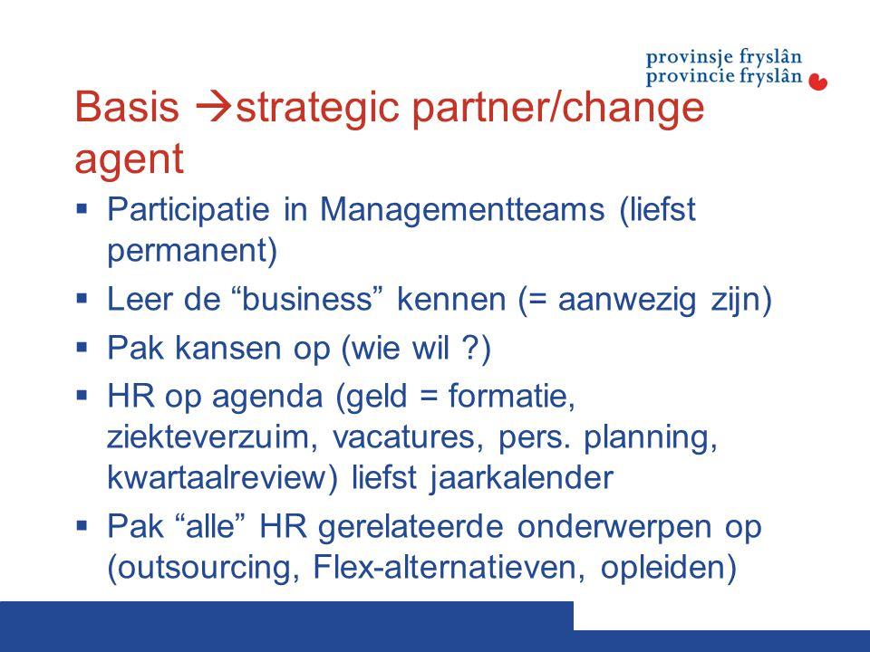 Basis strategic partner/change agent