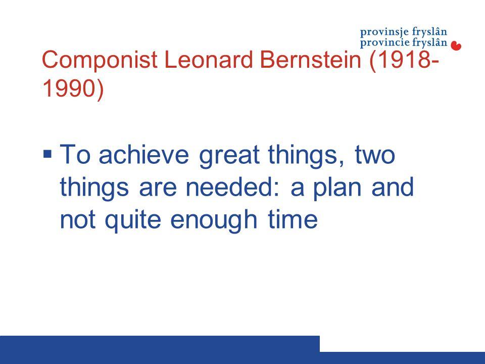 Componist Leonard Bernstein (1918-1990)